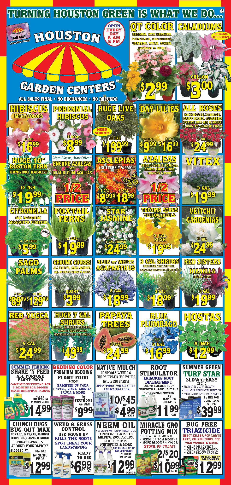 Houston Garden Centers Great Deals Every Day At Your