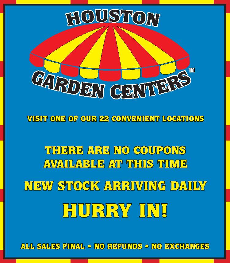 coupons - Houston Garden Center Coupon