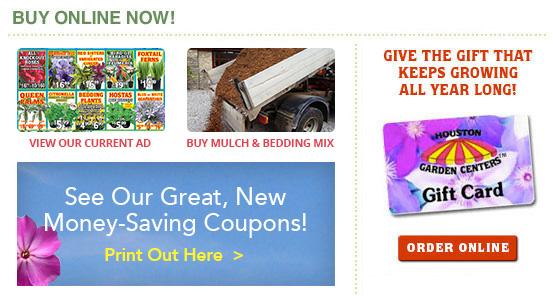 houston garden centers coupons